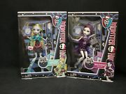 Monster High Lagoona Blue And Spectra Vondergeist Ghouls Night Out Doll New Lot