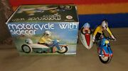Wind Up Metal Motorcycle With Side Car