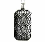 41mm Dog Tag Forged Carbon Sterling Silver 925 Pendant For Men And Women