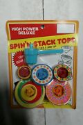 Vintage 1988 High Power Deluxe Spin'n Stack Tops Geoffrey Inc. New / Sealed