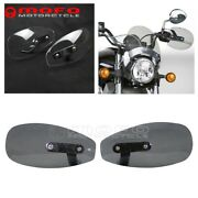 8mm/10mm Bolt Motorcycle Hand Guard Protector Wind Deflectors Shield For Harley
