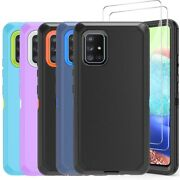 For Samsung Galaxy A71 A51 A21 A10e Heavy Duty Shockproof Case+tempered Glass