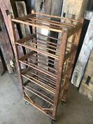 """Authentic Antique Shoe Factory Rack With 5 Doweled Shelves 22"""" Wide X 47"""" Tall"""