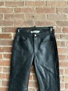 Mcq Alexander Mcqueen Mens Leather Front Pants Size It 44/us 28 X 32skinny Fit