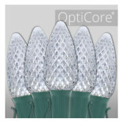 C9 Cool White Opticore Commercial Led Christmas Lights 25 Lights 25and039