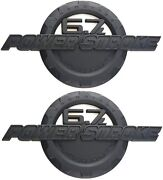 2 Pack Custom 6.7l Powerstroke Super Duty Side Fender Badges Emblemmatte Black