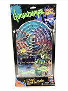 Vtg 1990s Goosebumps Horror Land Electric Pinball Table Top Hand Game Toy New B