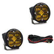 Baja Designs Squadron-r Sae Certified Wide Cornering Amber Led Light Pods - Pair