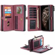Wallet Cell Phone Case Card Holder Cover Flip Zipper Pouch Spacious Accessories