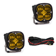 Baja Designs Squadron Sae Certified Wide Cornering Amber Led Light Pods - Pair