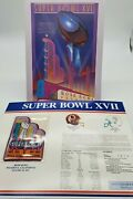 Super Bowl Xvii 17 Official Game Program And Commemorative Patch Redskins/dolphins