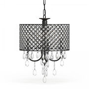 Silver Orchid Berger Antique Black 4-light Round Crystal Chandelier