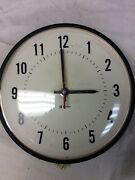 Vintage Simplex Dome Industrial School Wall Clock 13 - Black 1029207mn