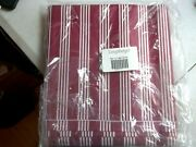 5 Yards Of Longaberger Fabric Liner Berry Red Stripe New