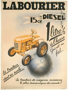 Original Vintage Labourier Le Tracteur - Tractor Advertising Poster - 40s French
