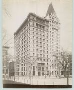 New York City Nyc Albumen Photo Postal Telegraph And Home Life Buildings 1890s