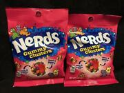 Brand New Nerds Gummy Clusters Candy {lot Of 2 Bags} Bb01/30/2022