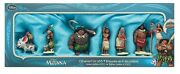 Disney Store Moana 6 Set Of Christmas Hanging Ornaments Limited Edition Of 5000