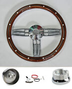 1995-2001 Chevrolet S10 Mahogany Billet Double Barrel Steering Wheel 14 Bowtie