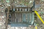 Antique National Brass Cash Register For Parts Barn Find Steampunk Buttons Gears