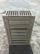 Vtg Large 35x23x9 1/2 Primitive Wooden Wood Chicken Crate Carrier Box Cage