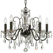 Crystorama Lighting 3025-eb-cl-saq Butler - 5 Light Chandelier In Traditional