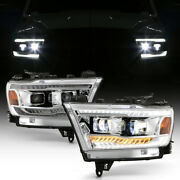 For 19-21 Ram 1500 Sequential Drl Signal Projector Headlight Built-in Led Lamp