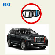 New Front Bumper Grille Grill Single Slat For Bmw X7 G07 2019 2020 2021 Tricolor