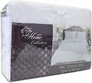 Sweet Home Collection 3 Piece Luxury Pinch Pleat Pintuck Fashion Duvet Set Quee