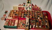Beautiful Antique And Vintage Christmas Glass Ornaments Over 120 Pieces Included