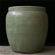 22.6and039and039 China Antique Pot Longquan Kiln Porcelain Pot Old Pottery Cylinder