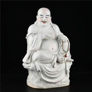 20and039and039 China Antique Statue White Glaze Porcelain Buddha Statue Old Pottery