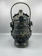 12and039and039 China Antique Brass Teapot Ancient Old Bronze Drinking Vessel Kettle