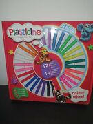 Plasticine Colour Wheel With 32 Colour Sticks And 14 Accessories - Kids Xmas Gift