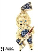 375 9ct Yellow Gold Solid Play Chuky Pendant Horror Movie Knife 40.8gr Brand New