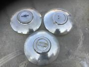Vintage 1940s 1955 1941 1950s Bowtie Moon Chevy Hubcaps Dog Dish 3 Three