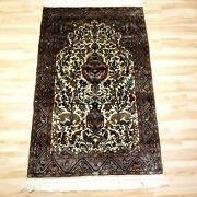3and0393x 5and0396 Afghan Made Silky Wool Hand Knotted Area Rug Afghanistan Carpet