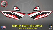 Angry Face Shark Teeth Decal Die-cut Fits On Cars Trucks Kayak Pc Bicycles Bikes