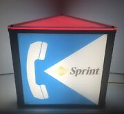 Sprint Pay Phone Booth Lighted Sign Vintage Works