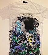 Dsquared Graffity Geisha T-shirt New Without Tags Ww Sold Out