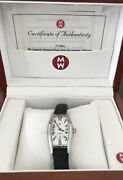 Michele Coquette Womanand039s Watch Cq01931 71-800 Barrel Face W/ Box Papers