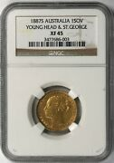 1887s Australia Gold Sovereign Young Head St George Ngc Xf45
