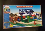 Thomas And Friends Wooden Railway A Day At The Works Lc99539 2004brand New