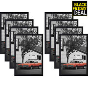 Golden State Art Black Wood Picture Frame - Displays Puzzles Photos - Acrylic...