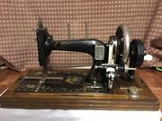Antique Rare E.harris Newbury London Sewing Machine 1900and039s Collectible 100