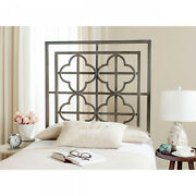 Safavieh Lucina French Antique Iron Metal Quatrefoil Headboard Twin