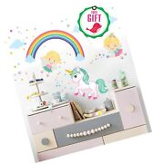 Unicorn Baby Girl Room Décor - Fairy Wall Stickers Childrens For Bedroom, Nur...