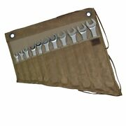 Hide And Drink Waxed Canvas Wrench/tool Roll 11 Pockets Hanging Storage For Cra...