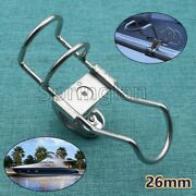 Stainless 316 Clamp On Boat Fishing Pole Rod Holders For Rails 26mm New