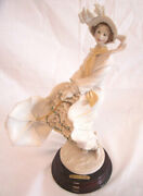 Guiseppe Armani Italy Porcelain Stormy Weather Figurine Woman Paris Lady Lovely